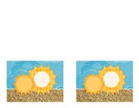 บัตรเชิญ (แบบรูปดวงอาทิตย์และผืนทราย)