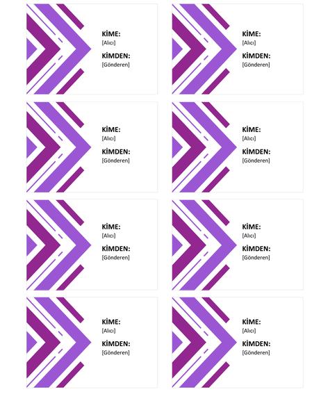 Hediye etiketleri (sayfa başına 8 adet)