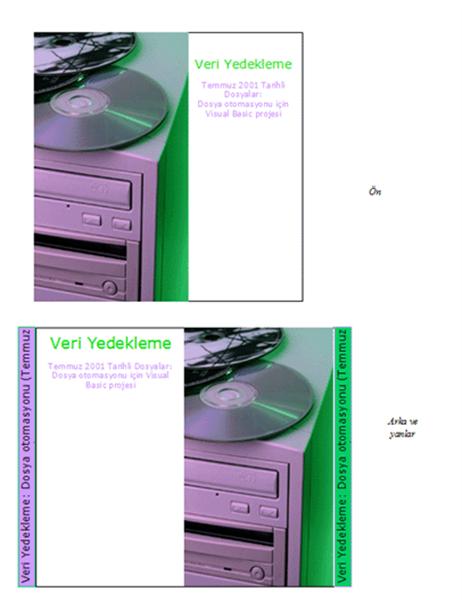 Veri yedekleme CD'si kutu ilanları