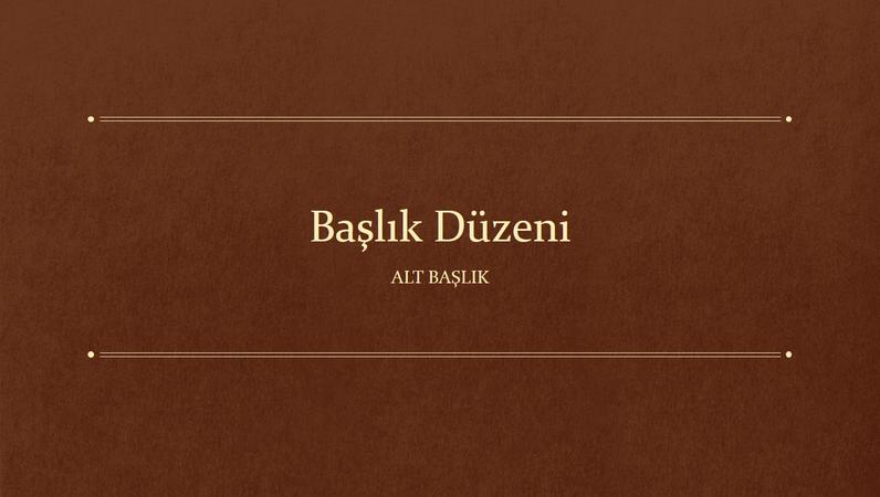 Klasik kitap eğitim sunusu (geniş ekran)