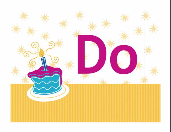 Doğum günü kutlama ilanı