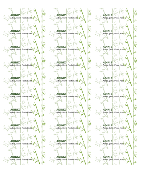 Adres Etiketleri (Bambu)