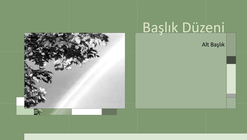 Akıllı tasarım slaytlarında mevsimler