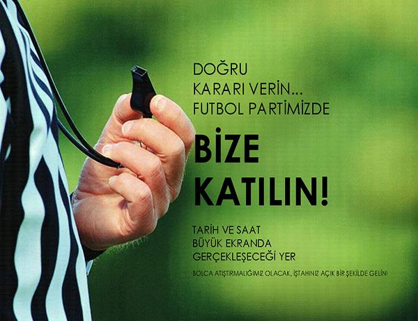 Futbol partisi el ilanı