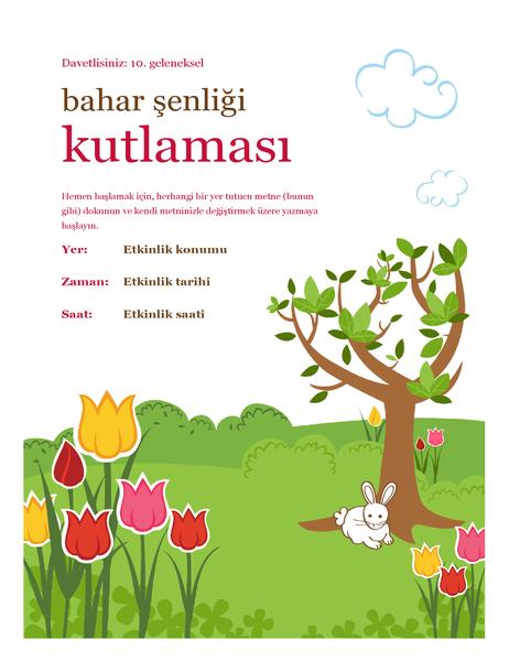 Bahar şenliği el ilanı
