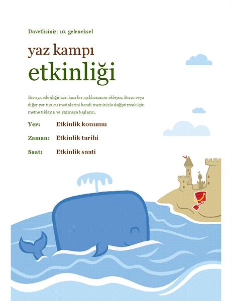 Yaz etkinliği el ilanı