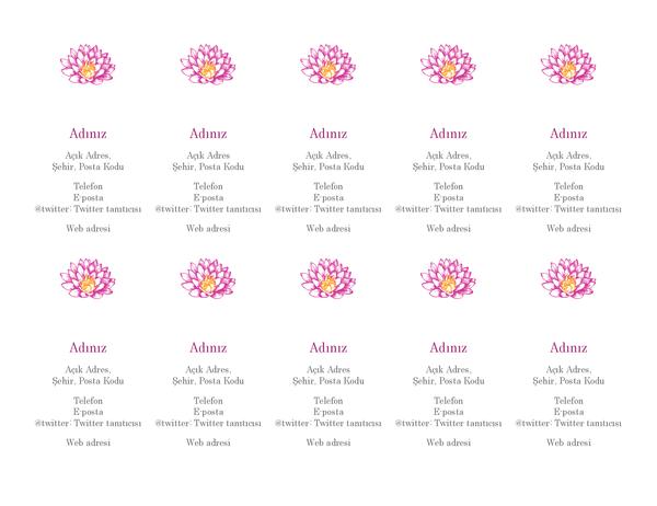 Çiçekli kişisel kartvizitler (dikey)