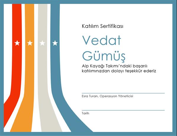 Katılım sertifikası