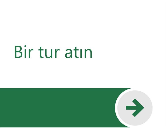 Excel'e Hoş Geldiniz