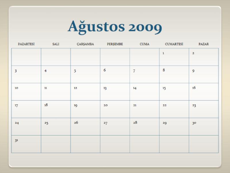 2009-2010 akademik takvimi (13 sayfa Pts-Paz)