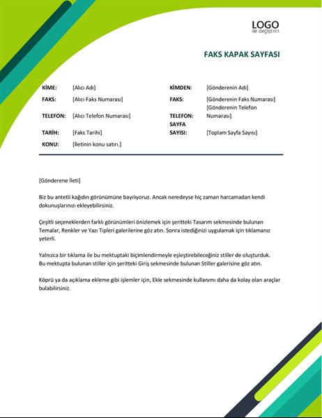 Modern kapsüller faks kapak sayfası