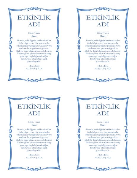 Etkinlik el ilanı (4 öğe)