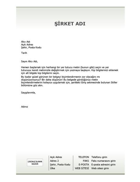 İş için antetli kağıt (Basit tasarım)