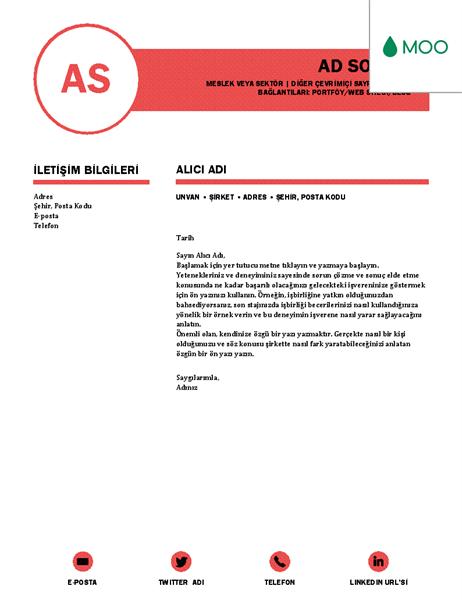 Zarif kapak mektubu, MOO tarafından tasarlandı