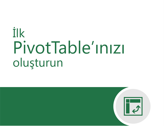 PivotTable öğreticisi