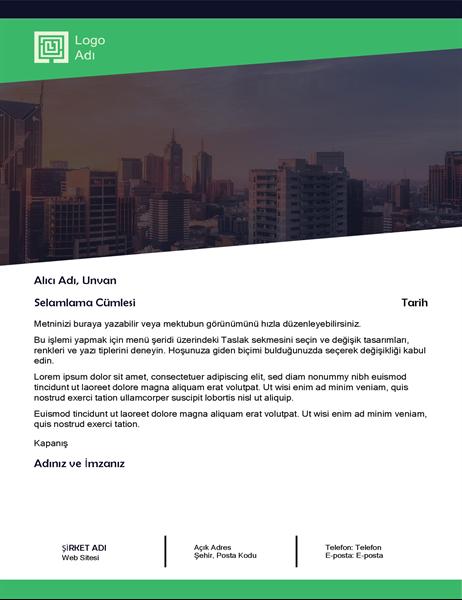 İş mektubu (Yeşil Orman tasarımı)