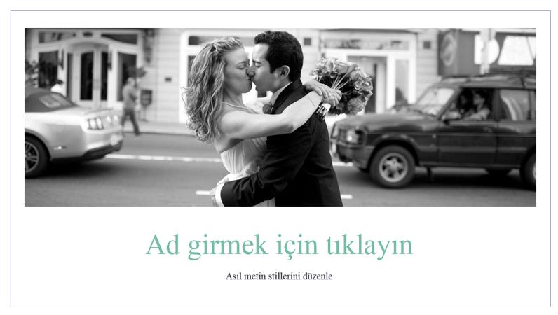 Basit düğün fotoğraf albümü