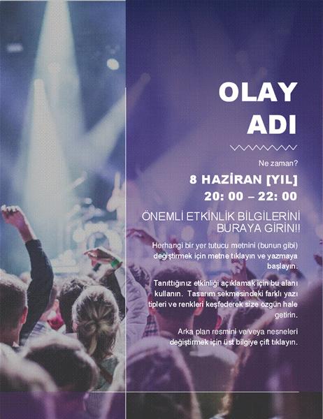 Kültürel etkinlik el ilanı