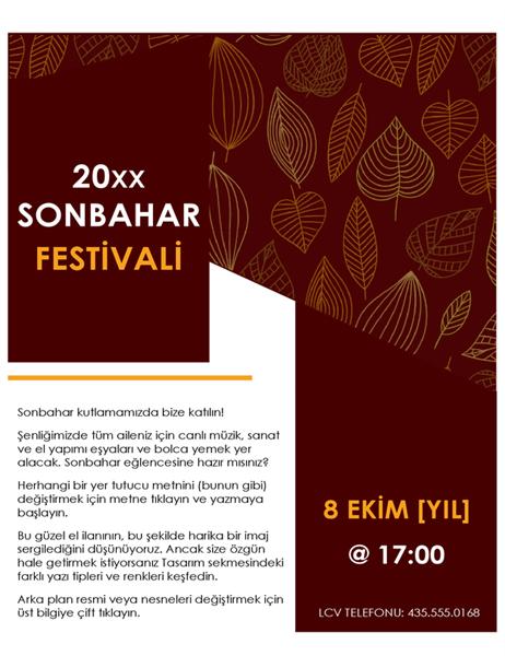 Sonbahar festivali el ilanı