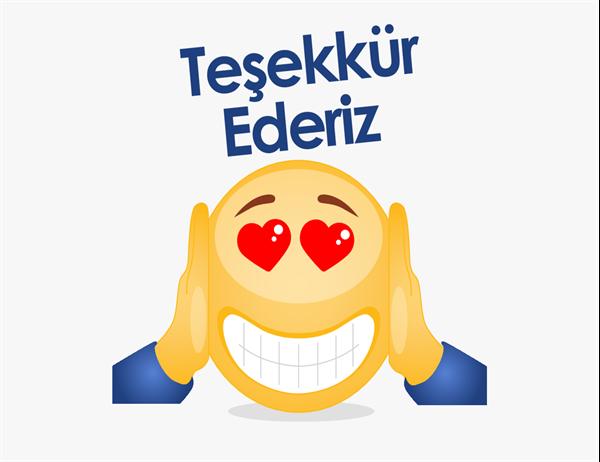 Emoji teşekkür kartı