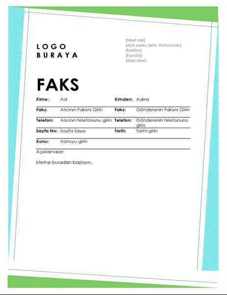 Geometrik faks kapak sayfası