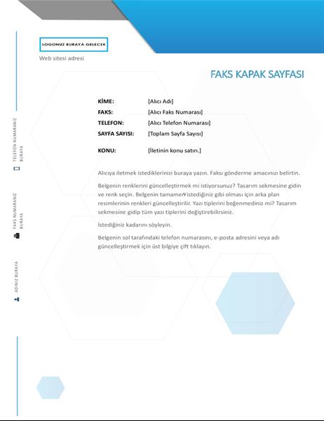 Altıgen faks kapak sayfası