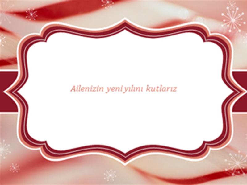 Şeritli baston şekerli Noel kartları (sayfa başına 2)