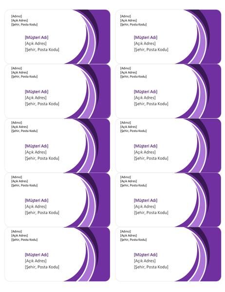 Mor gönderi etiketleri (Sayfa başına 10)