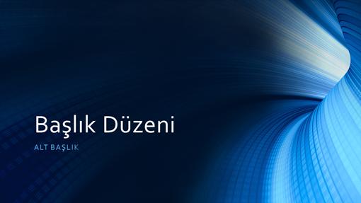 İş dijital mavi tünel sunusu (geniş ekran)