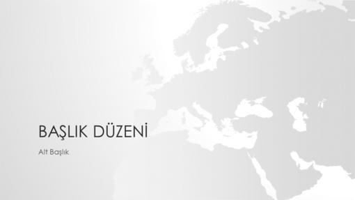 Dünya haritaları serisi, Avrupa sunusu (geniş ekran)