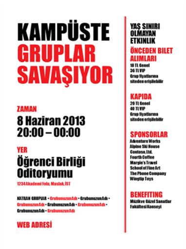 Öğrenci el ilanı (kırmızı ve siyah)
