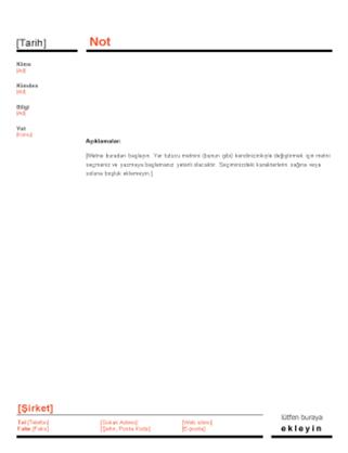 İş notu (Kırmızı ve Siyah tasarım)
