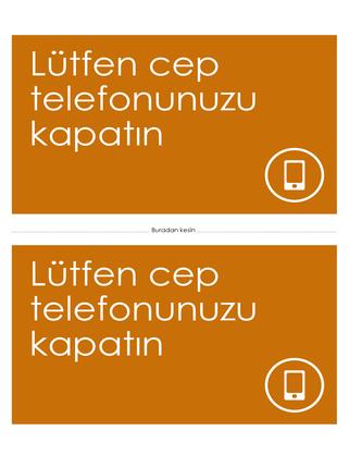 Cep telefonunu kapatma anımsatıcısı (turuncu)