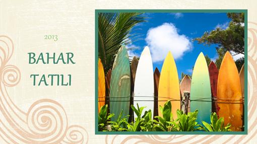 Bahar Tatili fotoğraf albümü (sahil tasarımı, geniş ekran)