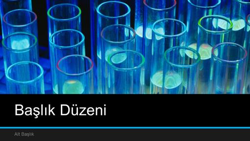 Laboratuvar bilim sunusu (geniş ekran)