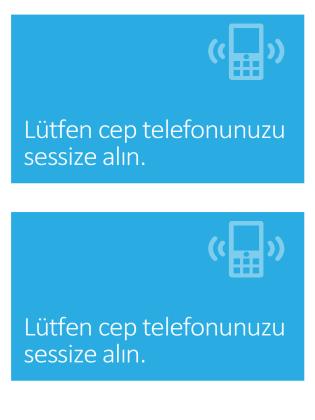 Cep telefonu kapatma anımsatıcı posteri (mavi)