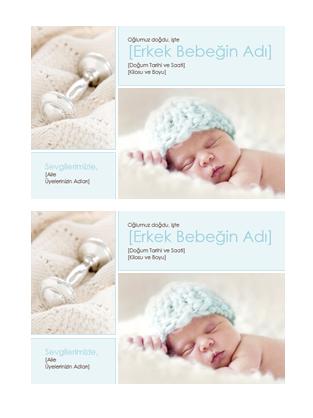 Bebek doğum ilanı