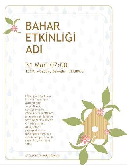 Bahar etkinliği el ilanı