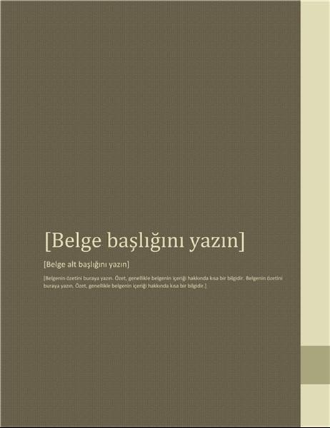 Rapor (Bitişiklik tasarımı)