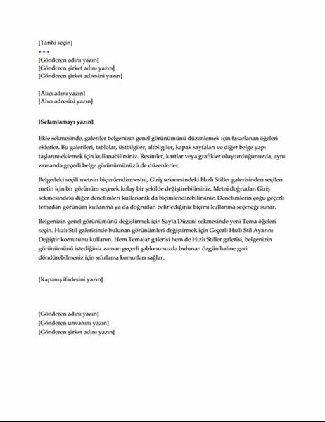 Mektup (Yönetici tasarımı)