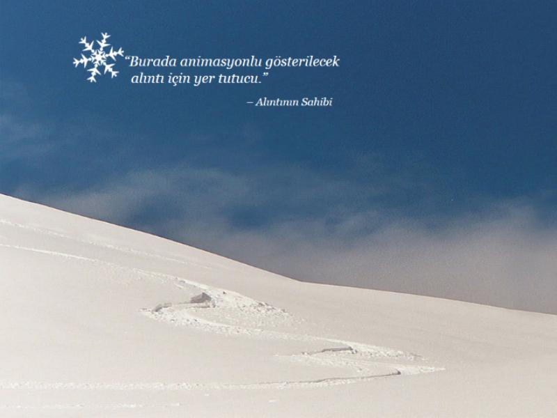 Animasyonlu kar manzarası