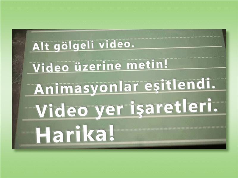 Video üzerinden metin