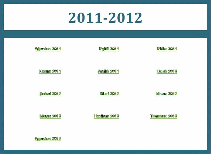 2011-2012 akademik takvimi (Pts-Paz)