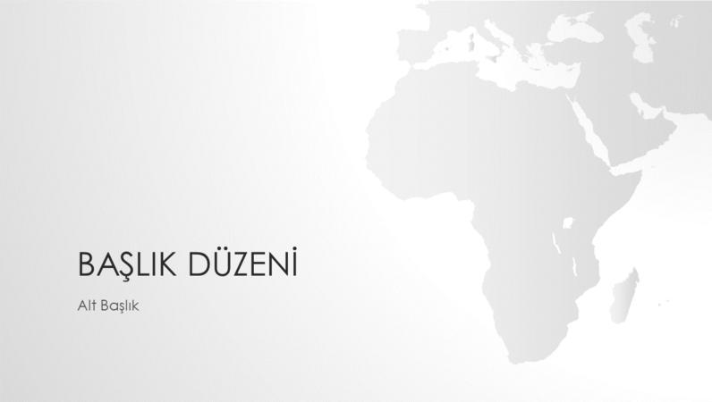 Dünya haritaları serisi, Afrika kıtası sunusu (geniş ekran)