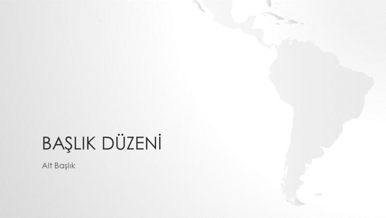 Dünya haritaları serisi, Güney Amerika kıtası sunusu (geniş ekran)