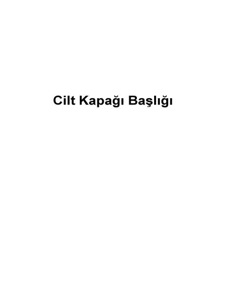 Cilt kapağı