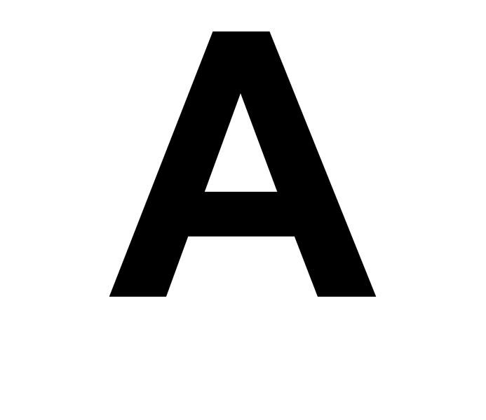Başlık Harfleri ve Rakamları (8,5x11)