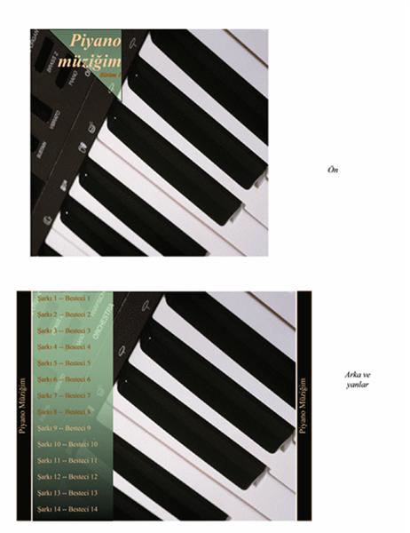 CD kutu ilanı (piyano müziği tasarımı)