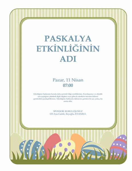 Paskalya etkinliği el ilanı (yumurtalı)