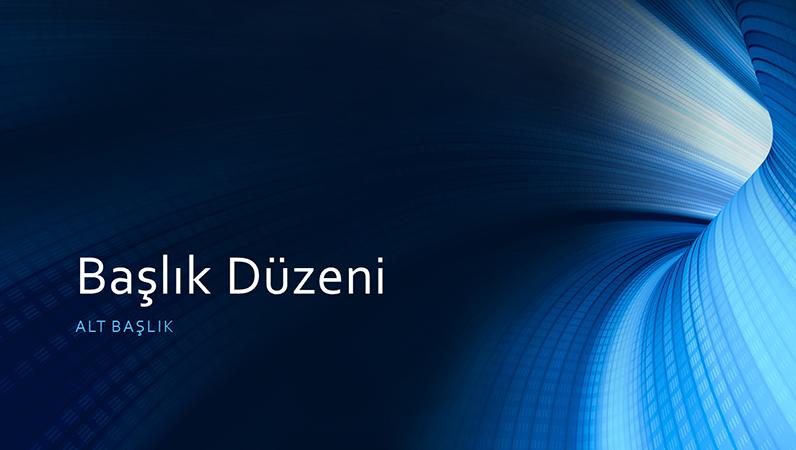 İş için dijital mavi tünel sunusu (geniş ekran)